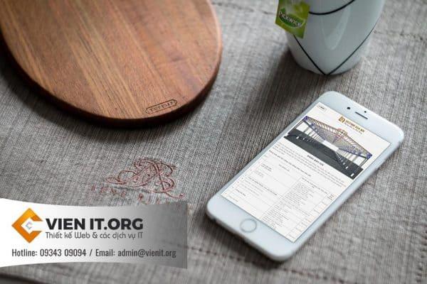 Thiết kế Website Cơ khí Huỳnh Gia an tương thích di động