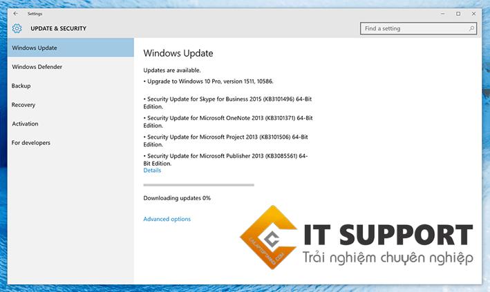 Cập nhật Windows 10 (10586)