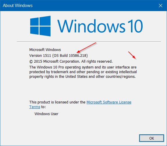 Kiểm tra số Build Windows 10 bằng Winver
