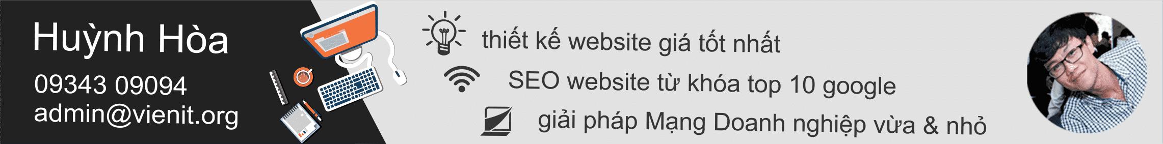 thiết kế SEO website giá tốt nhất Viện IT