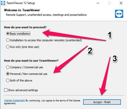 Hướng dẫn cài đặt TeamViewer 12