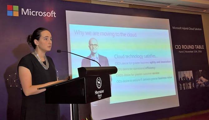 Bà Sonia Blouin, Trưởng bộ phận Trung tâm Dữ liệu, Microsoft châu Á Thái Bình Dương