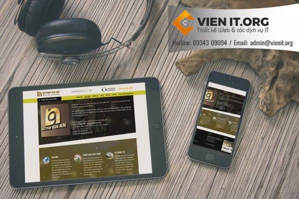 Thiết kế Website Cơ khí Huỳnh Gia an