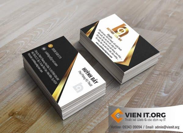 Thiết kế Name card (danh thiếp) Cơ khí Huỳnh Gia an