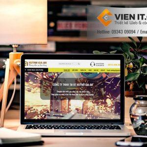 Thiết kế Web Cửa sắt công ty Huỳnh Gia An