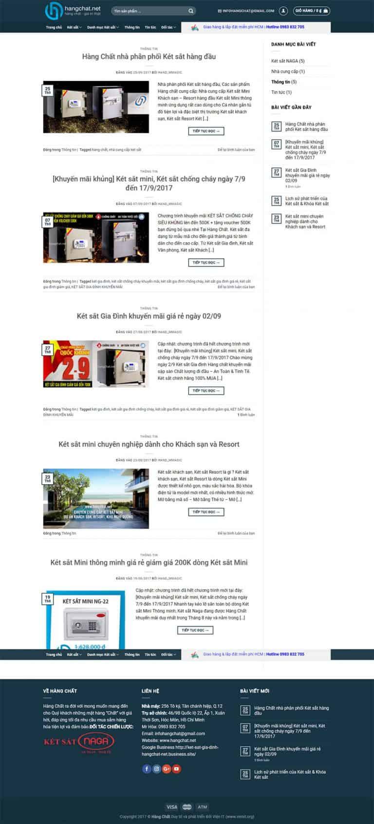 Trang bài viết Website thương mại điện tử Hàng chất