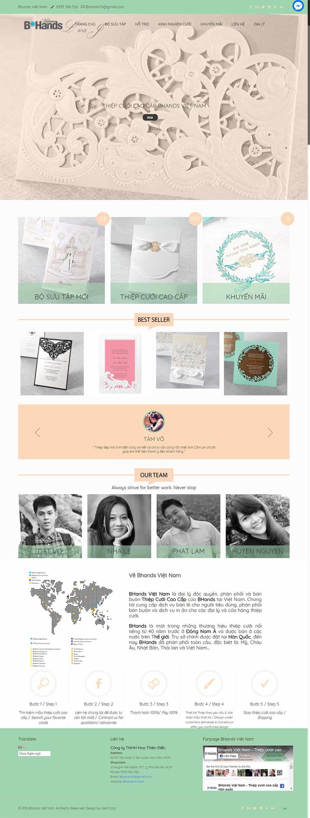 thiết kế website thiệp cưới cao cấp