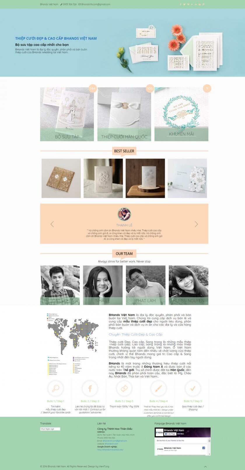 Thiết kế Website Thiệp cưới Bhands Việt Nam