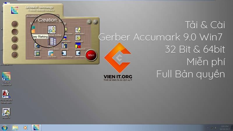 Tải & Cài Gerber Accumark 9.0 Win7 64bit Full Bản quyền miễn phí