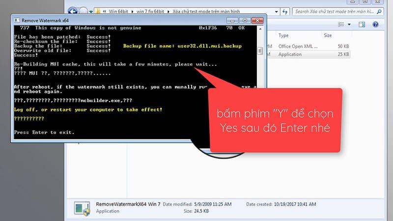 Hướng dẫn xóa WaterMarkTest Mode Windows 7 Build .... trên Windows 7 64bit