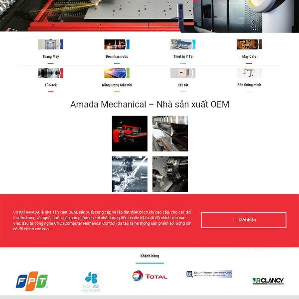 Layout Trang chủ thiết kế Website Nhà máy sản xuất Cơ khí