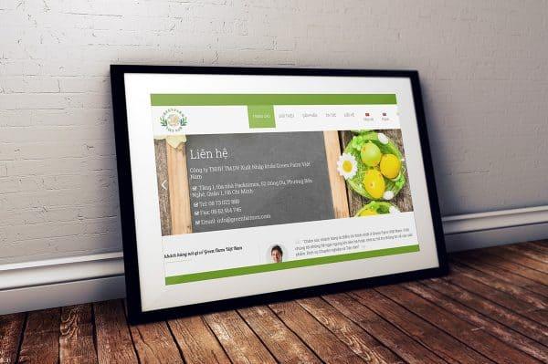 Thiết kế Web Xuất khẩu nông sản. SEO top 10 miễn phí Greenfarmvn.com