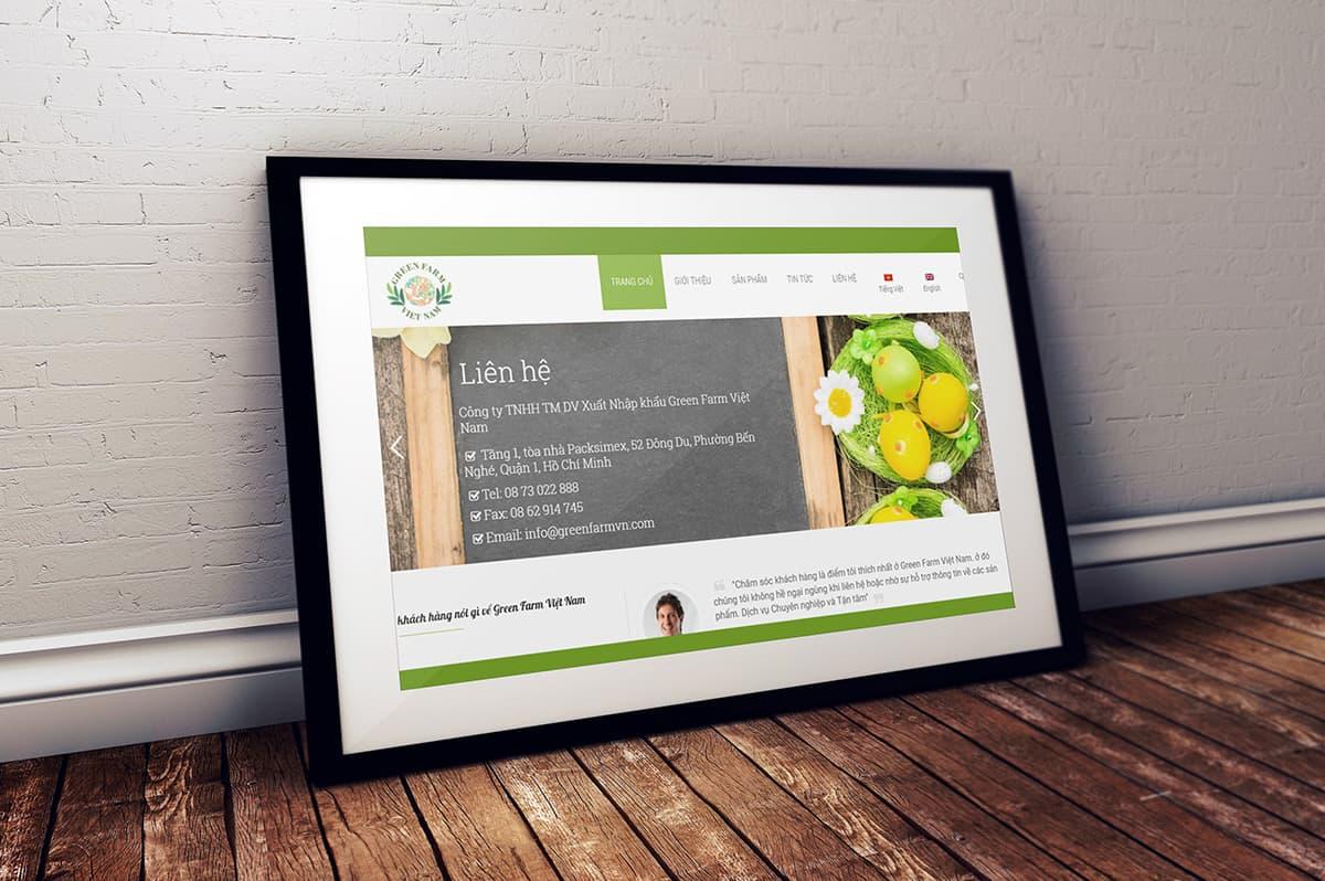 Thiết kế Website Xuất khẩu nông sản.com theo phong cách đơn giản hiện đại