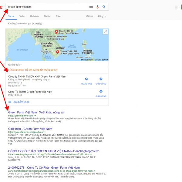 Hỗ trợ SEO Top 10 google miễn phí khi thiết kế Web xuất khẩu nông sản