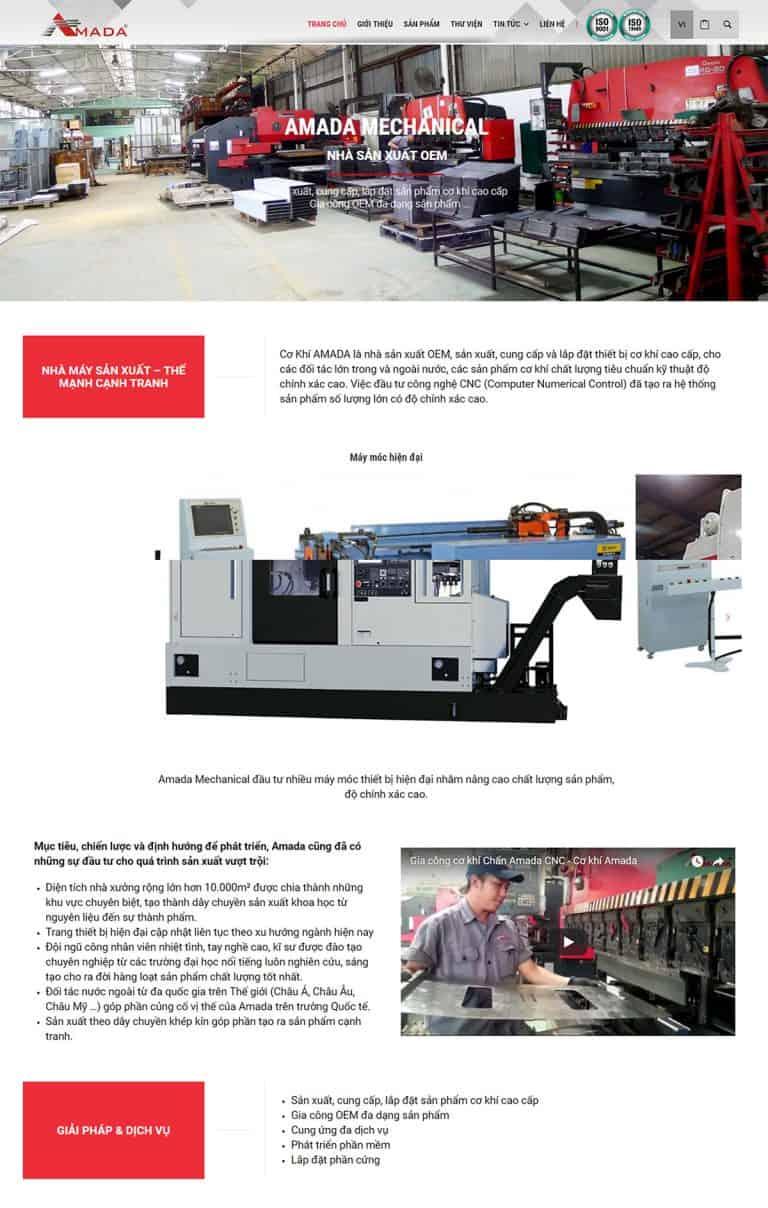 Layout Trang Giới thiệu thiết kế Website Nhà máy sản xuất Cơ khí