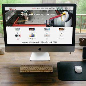 Thiết kế Web Nhà máy sản xuất Amada Mechanical
