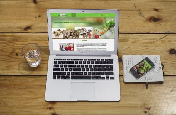 Thiết kế Web dịch vụ Cung cấp suất ăn công nghiệp
