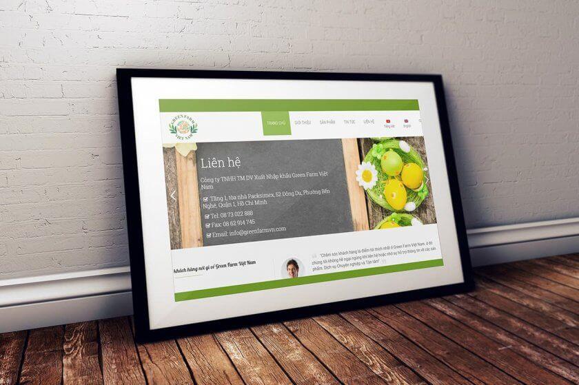 Thiết kế website xuất khẩu nông sản Greenfarm