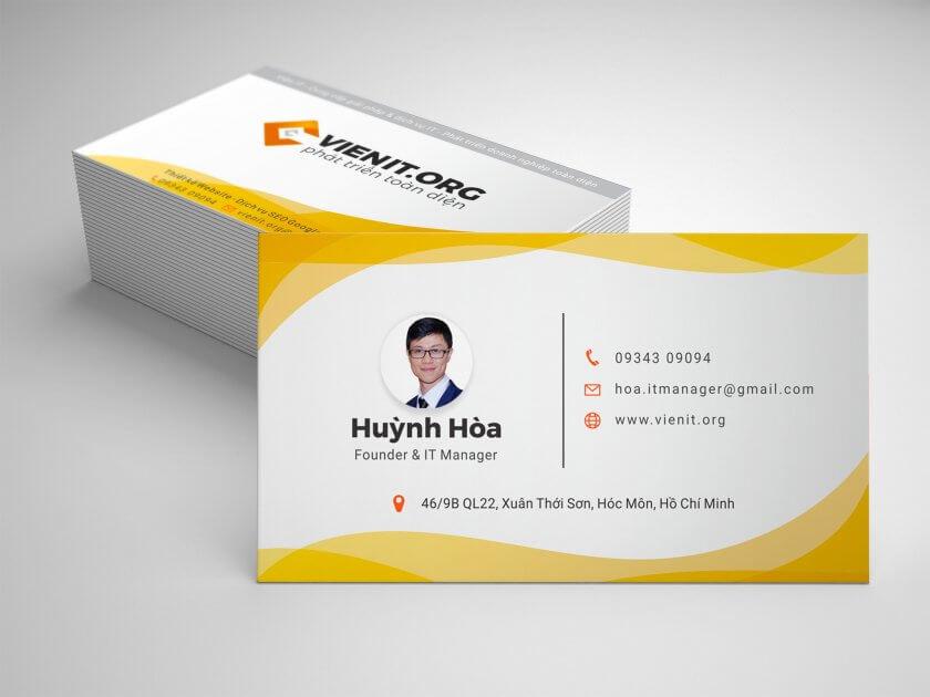 Namecard của Huỳnh Hòa